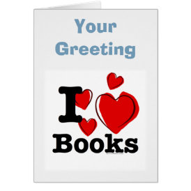 I Heart Books! I Love Books! (Sketchy Heart) Card