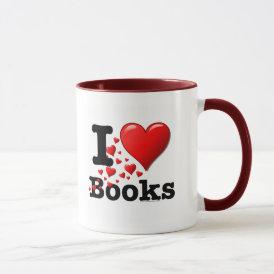 I Heart Books! I Love Books! (Trail of Hearts) Mug