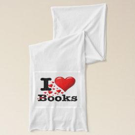 I Heart Books! I Love Books! (Trail of Hearts) Scarf