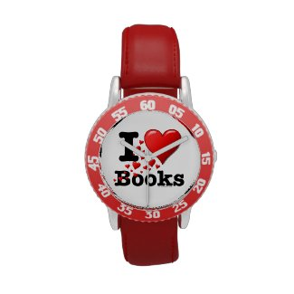 I Heart Books! I Love Books! (Trail of Hearts) Wrist Watch