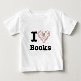 I Heart Books - I Love Books! (Word Heart) Baby T-Shirt