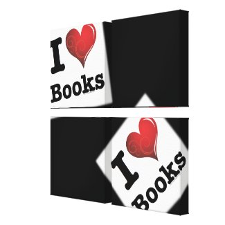 I heart books Swirly Curlique Heart 02 FADE 4000x4 Canvas Print