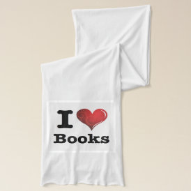 I heart books Swirly Curlique Heart 02 FADE 4000x4 Scarf