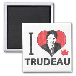 I Heart Trudeau 2 Inch Square Magnet