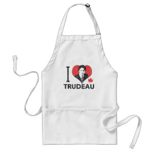 I Heart Trudeau Adult Apron