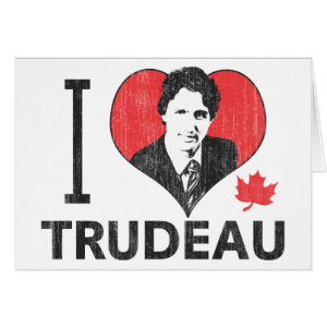 I Heart Trudeau Greeting Card