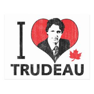 I Heart Trudeau Postcard