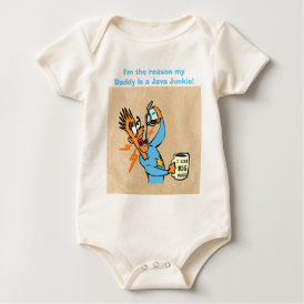 I Like Big Mugs! - Java Junkie Guy! Baby Bodysuit