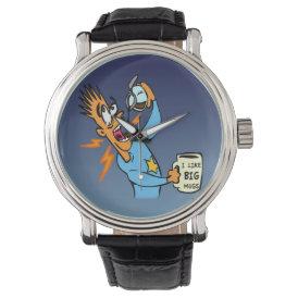 I Like Big Mugs! - Java Junkie Guy! Wristwatch
