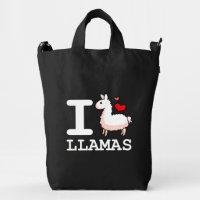 I Llama Llamas Duck Bag