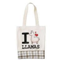 I Llama Llamas Zazzle HEART Tote Bag