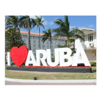 I love Aruba - One happy Island Post Card