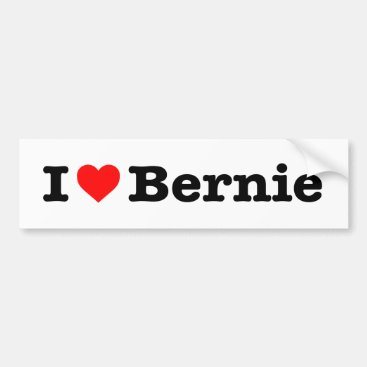 """I LOVE BERNIE"" BUMPER STICKER"