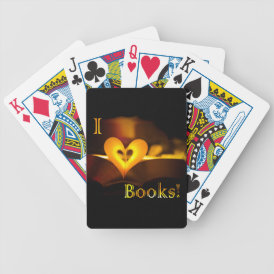 I Love Books - I 'Heart' Books (Candlelight) Bicycle Playing Cards