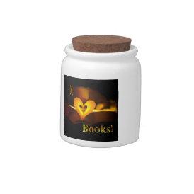 I Love Books - I 'Heart' Books (Candlelight) Candy Jar