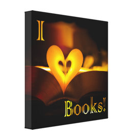 I Love Books - I 'Heart' Books (Candlelight) Canvas Print