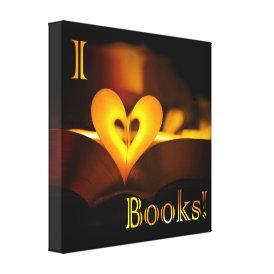 I Love Books - I 'Heart' Books (Candlelight) Canvas Print