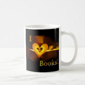 I Love Books - I 'Heart' Books (Candlelight) Coffee Mug