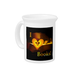 I Love Books - I 'Heart' Books (Candlelight) Pitcher