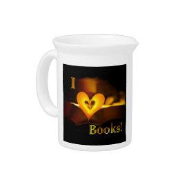 I Love Books - I 'Heart' Books (Candlelight) Pitcher