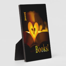 I Love Books - I 'Heart' Books (Candlelight) Plaque