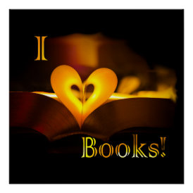 I Love Books - I 'Heart' Books (Candlelight) Poster