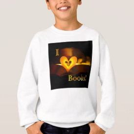 I Love Books - I 'Heart' Books (Candlelight) Sweatshirt