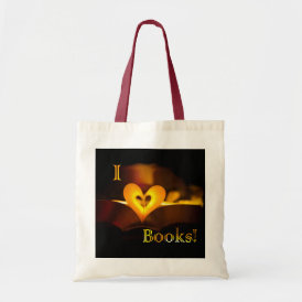 I Love Books - I 'Heart' Books (Candlelight) Tote Bag