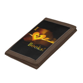 I Love Books - I 'Heart' Books (Candlelight) Trifold Wallets