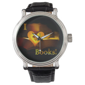 I Love Books - I 'Heart' Books (Candlelight) Wristwatch