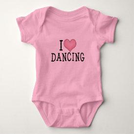 I Love Dancing Baby Bodysuit