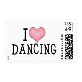 I Love Dancing Postage