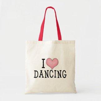 I Love Dancing Tote Bags