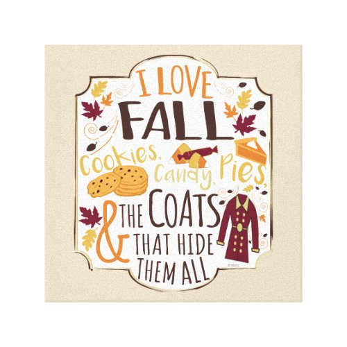 I Love Fall Canvas Print