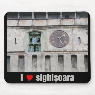 I Love / Heart Sighisoara (Romania) / Clock Tower Mouse Pads