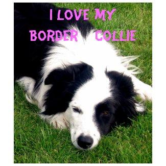 I love my Border Collie - Ladies Baby Doll Shirt shirt