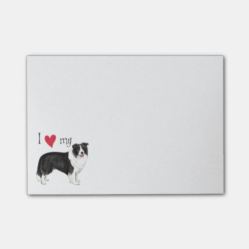 I Love my Border Collie Post-it Notes