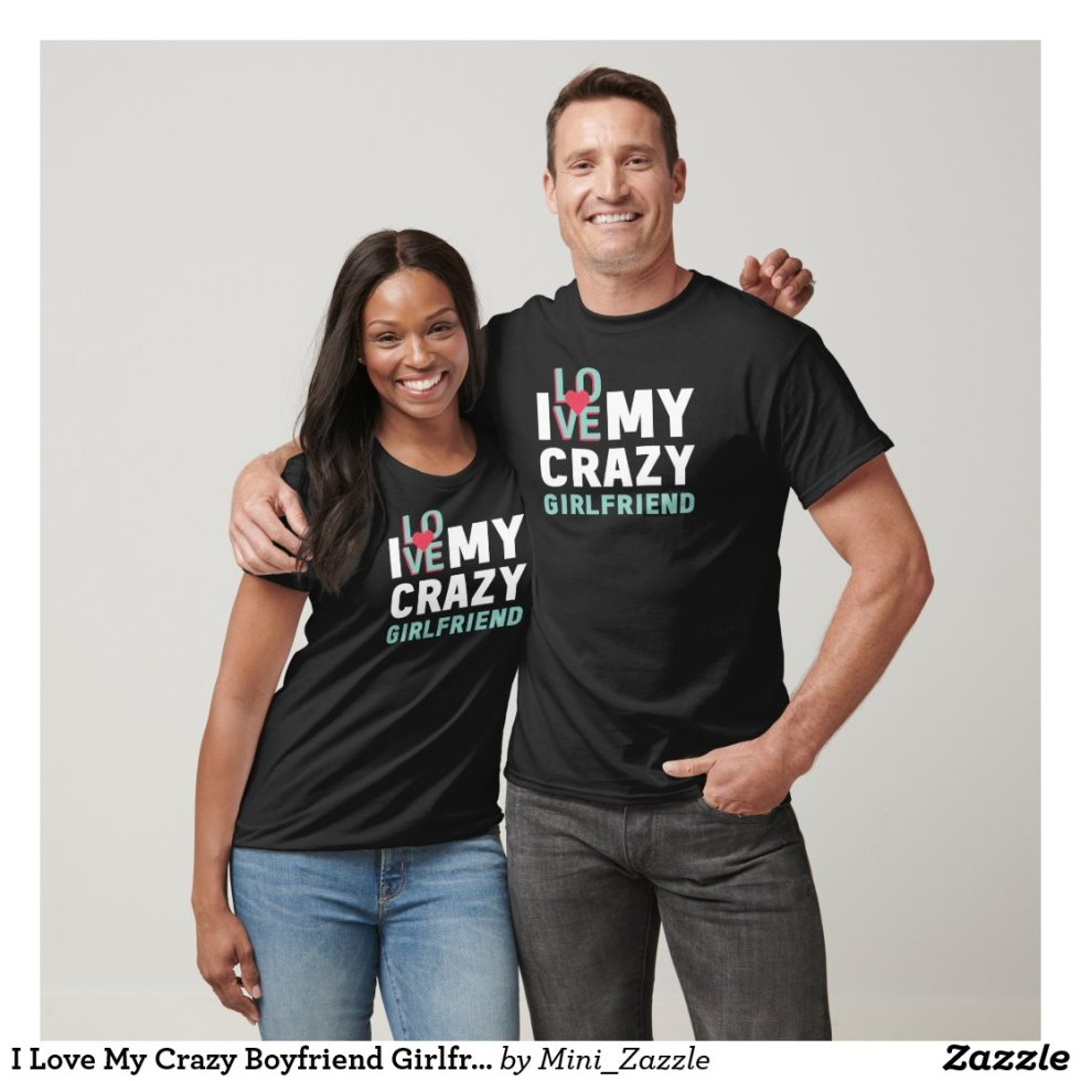Cute Matching Boyfriend Girlfriend Couple T-Shirt