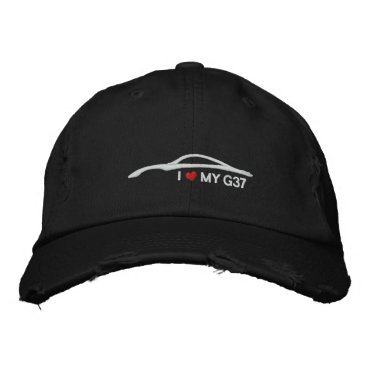 I Love My G37 - black Embroidered Baseball Cap