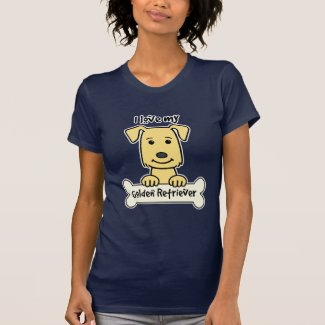 I Love My Golden Retriever Tshirt