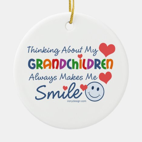 I Love My Grandchildren Ceramic Ornament
