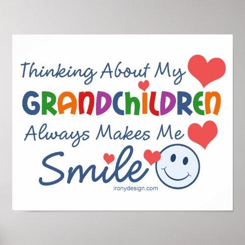 I Love My Grandchildren Cute Poster