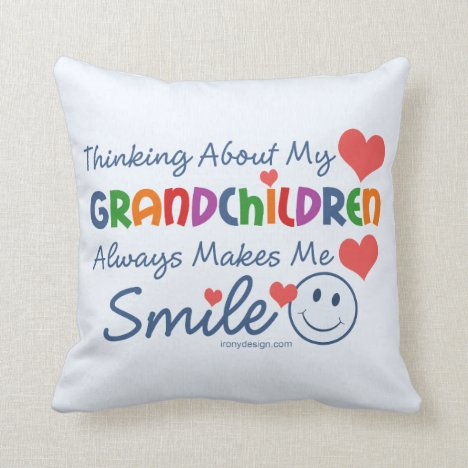 I Love My Grandchildren Cute Throw Pillow