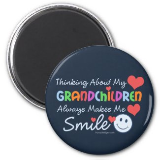 I Love My Grandchildren Fridge Magnet