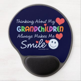 I Love My Grandchildren Gel Mouse Pads