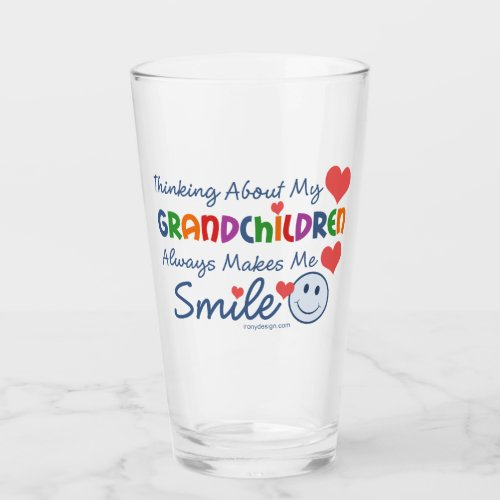 I Love My Grandchildren Glass