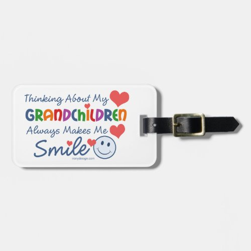 I Love My Grandchildren Luggage Tag