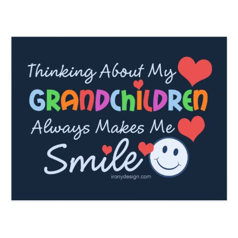 I Love My Grandchildren Postcard
