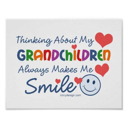I Love My Grandchildren Saying Poster