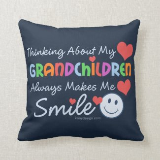 I Love My Grandchildren Throw Pillows